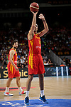 Pierre Oriola of Spain during the Friendly match between Spain and Dominican Republic at WiZink Center in Madrid, Spain. August 22, 2019. (ALTERPHOTOS/A. Perez Meca)