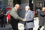 A handout picture dated February 26, 2014 and released by Hamas Press Office on August 21, 2014, shows the top Hamas official in Gaza Ismail Haniya (C-R) greeting fellow senior Hamas commander, Raed al-Atar (L), in the southern Gaza Strip town of Rafah. Three senior Hamas commanders, including al-Atar, were among at least 15 Palestinians killed in Gaza early on August 21, as Israel stepped up air strikes on day 45 of the bloody conflict. The Brigades, the military wing of Hamas which holds de facto power in Gaza, identified the three as Mohammed Abu Shamala, Raed al-Atar and Mohammed Barhum. APAIMAGES / HO / HAMAS PRESS OFFICE