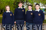 Scoil Phobail Sliabh Luachra Rathmore.Pictured l-r Shauna Davis,Darren O'Connor,Brian Courtney and David Nagle at the Kerry Region National Junior Cert Maths Quiz  at the I.T. South Campus on Friday