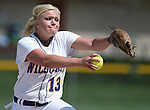 Western Nevada Wildcats' Carlee Beck pitches in a college softball game against North Idaho College at Edmonds Sports Complex, in Carson City, Nev., on Friday, April 18, 2014.<br /> Photo by Cathleen Allison/Nevada Photo Source
