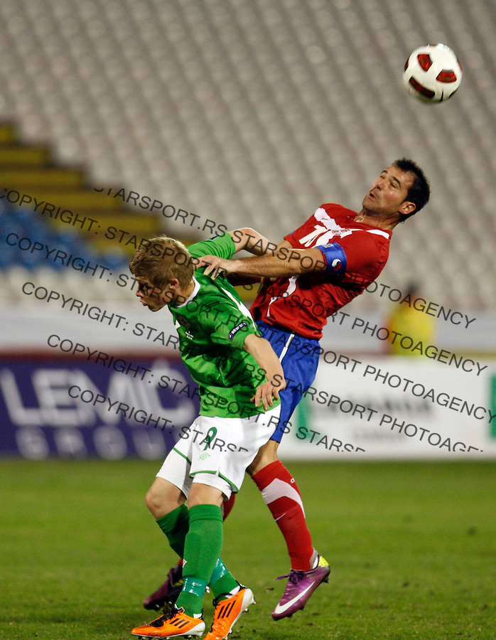 Serbia national football team playerDejan Stankovic (10)  during UEFA Euro 2012 group C qualifying football match Serbia vs Northern Ireland in Belgrade, Serbia, Friday, March 25, 2011. (photo: Pedja Milosavljevic / SIPA PRESS)