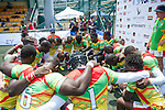 GFI East Africans team gets ready for the GFI HKFC Rugby Tens 2016 on 06 April 2016 at Hong Kong Football Club in Hong Kong, China. Photo by Juan Manuel Serrano / Power Sport Images