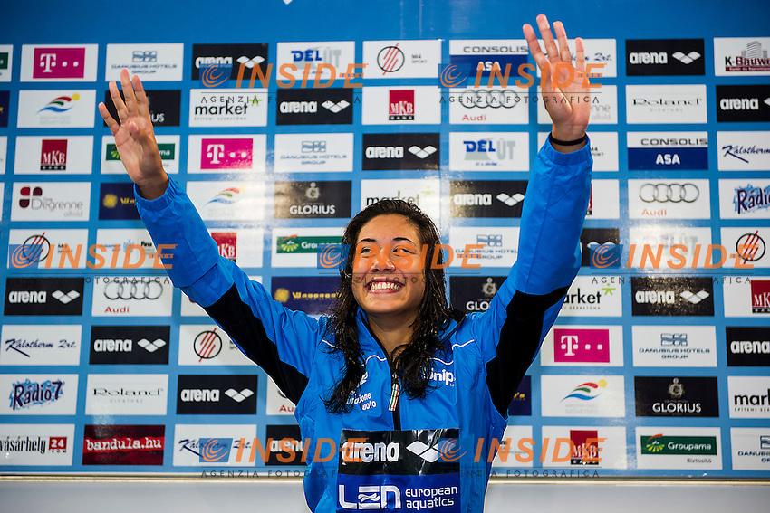Quaglieri Tania ITA<br /> 100 Backstroke Women Final Gold Medal<br /> LEN 43rd Arena European Junior Swimming Championships<br /> Hodmezovasarhely, Hungary <br /> Day05 10-07-2016<br /> Photo Andrea Masini/Deepbluemedia/Insidefoto