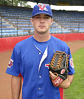 July 31, 2004:  Pitcher Brett Campbell of the Vermont Expos during a game at Russell Diethrick Park in Jamestown, NY.  Vermont is the Short Season Single-A NY-Penn League affiliate of the Montreal Expos (Washington Nationals).  Photo By Mike Janes/Four Seam Images