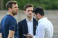 Preparations ahead of the London Old Boys Senior Cup Final between Old Parmiterians and Old Hamptonians at Dulwich Hamlet Football Club, Dulwich, England on 11 May 2016. Photo by David Horn/PRiME Media Images.