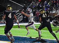 NWA Democrat-Gazette/CHARLIE KAIJO Arkadelphia High School quarterback Cannon Turner (21) scores during a Class 4A semi-final playoff football game, Saturday, December 1, 2018 at Champions Stadium at Shiloh Christian High School in Springdale.