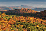 Mount Monadnock from New Salem on a sunny colorful Autumn early morning.
