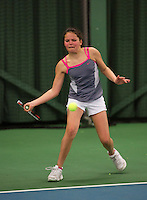 Rotterdam, The Netherlands, 07.03.2014. NOJK ,National Indoor Juniors Championships of 2014, 12and 16 years, Tess Demin (NED)<br /> Photo:Tennisimages/Henk Koster