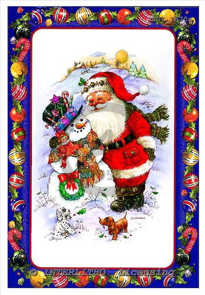 GIORDANO, CHRISTMAS SANTA, SNOWMAN, WEIHNACHTSMÄNNER, SCHNEEMÄNNER, PAPÁ NOEL, MUÑECOS DE NIEVE, paintings+++++,USGI1870A,#X#