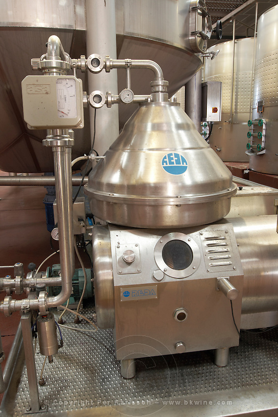 centrifugation unit bodegas frutos villar , cigales spain castile and leon
