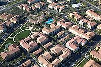 Aerial Stock Photo of a Multi Family Community in Costa Mesa California