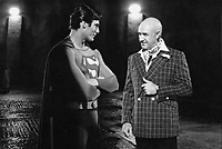 Superman (1978) <br /> Behind the scenes photo of Christopher Reeve &amp; Gene Hackman<br /> *Filmstill - Editorial Use Only*<br /> CAP/KFS<br /> Image supplied by Capital Pictures