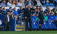 Aston Villa manager Steve Bruce during the Sky Bet Championship match between Cardiff City and Aston Villa at the Cardiff City Stadium, Cardiff, Wales on 12 August 2017. Photo by Mark  Hawkins / PRiME Media Images.