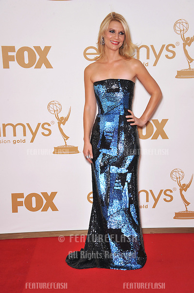 Claire Danes arriving at the 2011 Primetime Emmy Awards at the Nokia Theatre, L.A. Live in downtown Los Angeles..September 18, 2011  Los Angeles, CA.Picture: Paul Smith / Featureflash