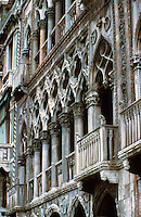 Venice:  Ca D'Oro--upper facade.  Photo '83.