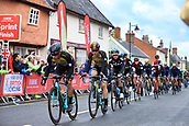 8th September 2017, Newmarket, England; OVO Energy Tour of Britain Cycling; Stage 6, Newmarket to Aldeburgh; The trailing pack race through Ixworth