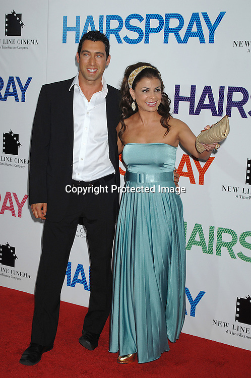 "Paula Abdul and JT Torregiani..arriving at the New York Premiere of ""Hairspray"" on         July 16, 2007 at The Ziegfeld Theatre. ..Robin Platzer, Twin Images......212-935-0770"