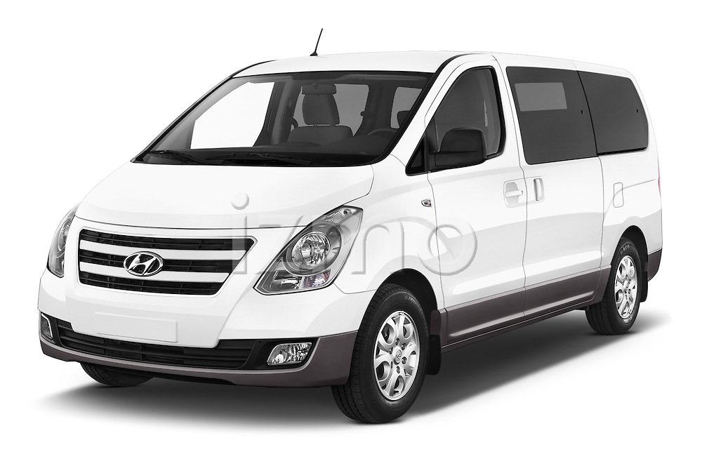 2015 Hyundai H-1 People Executive 5 Door Passenger Van Angular Front stock photos of front three quarter view