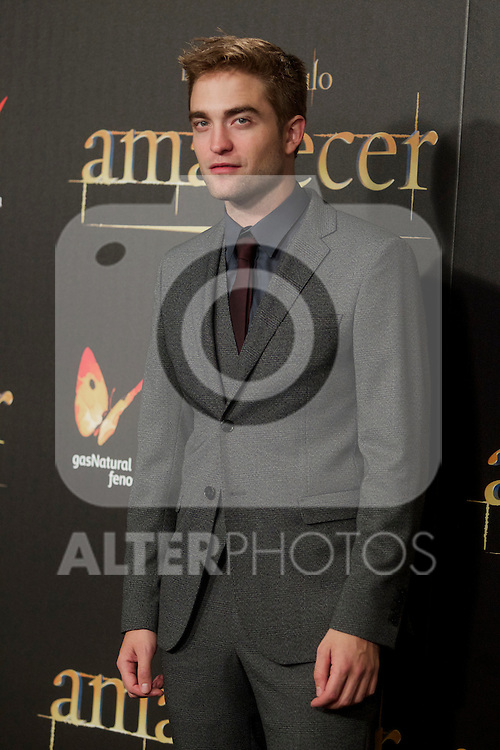 Robert Pattison during the premiere of The Twilight Saga: Breaking Dawn. November 15, 2012. (ALTERPHOTOS/Alvaro Hernández)
