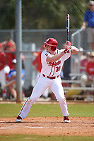 Indiana Hoosiers pinch hitter Scotty Bradley (30) at bat during a game against the Seton Hall Pirates on March 5, 2016 at North Charlotte Regional Park in Port Charlotte, Florida.  Seton Hall defeated Indiana 6-4.  (Mike Janes/Four Seam Images)