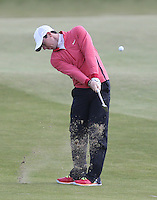 Thursday 28 May 2015; Rory McIlroy playing into the 17th green<br /> <br /> Dubai Duty Free Irish Open Golf Championship 2015, Round 1 County Down Golf Club, Co. Down. Picture credit: John Dickson / SPORTSFILE