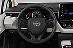 Car pictures of steering wheel view of a 2020 Toyota Corolla LE 4 Door Sedan Steering Wheel