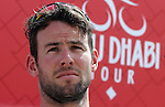 Mark Cavendish (GBR) Team Dimension Data at sign on before the start of Stage 1 Emirates Motor Company Stage of the 2017 Abu Dhabi Tour, running 189km from Madinat Zayed through the desert and back to Madinat Zayed, Abu Dhabi. 23rd February 2017<br /> Picture: ANSA/Matteo Bazzi | Newsfile<br /> <br /> <br /> All photos usage must carry mandatory copyright credit (&copy; Newsfile | ANSA)