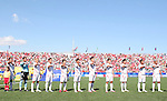 02 July 2007: Mexico's starters sing their national anthem. At the National Soccer Stadium, also known as BMO Field, in Toronto, Ontario, Canada. Mexico's Under-20 Men's National Team defeated Gambia's Under-20 Men's National Team 3-0 in a Group C opening round match during the FIFA U-20 World Cup Canada 2007 tournament.