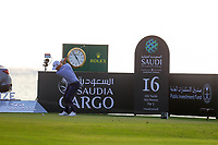 Paul Waring (ENG) on the 16th tee during the 1st round of  the Saudi International powered by Softbank Investment Advisers, Royal Greens G&CC, King Abdullah Economic City,  Saudi Arabia. 30/01/2020<br /> Picture: Golffile | Fran Caffrey<br /> <br /> <br /> All photo usage must carry mandatory copyright credit (© Golffile | Fran Caffrey)