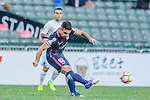 Joao Pereira of SC Kitchee (r) attempts a kick during the Nike Lunar New Year Cup 2017 match between SC Kitchee (HKG) and Auckland City FC (NZL) on January 31, 2017 in Hong Kong, Hong Kong. Photo by Marcio Rodrigo Machado / Power Sport Images