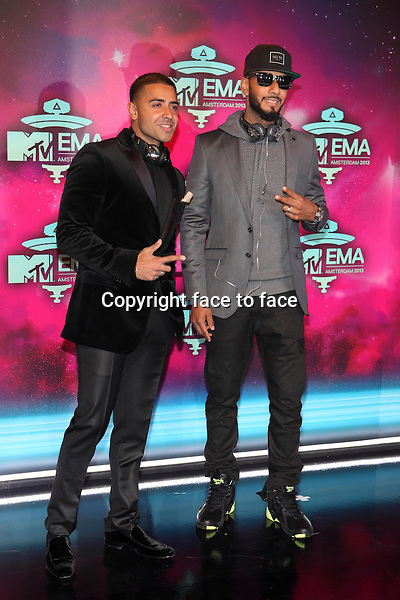 AMSTERDAM - Jay Sean and Swizz Beatz at the MTV Europe Music Awards 2013 at the Ziggodome in Amsterdam.<br />