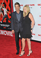 Rob Lowe &amp; wife Sheryl Berkoff at the world premiere of his movie &quot;Sex Tape&quot; at the Regency Village Theatre, Westwood.<br /> July 10, 2014  Los Angeles, CA<br /> Picture: Paul Smith / Featureflash