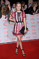 Eden Taylor Draper<br /> arriving for the National Television Awards 2018 at the O2 Arena, Greenwich, London<br /> <br /> <br /> ©Ash Knotek  D3371  23/01/2018