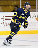Elliott Sheen (Merrimack - 11) - The Merrimack College Warriors defeated the visiting Sweden Under 20 team 4-1 on Tuesday, November 2, 2010, at Lawler Arena in North Andover, Massachusetts.