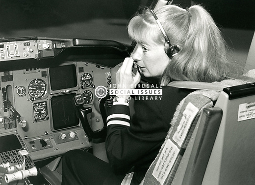 Female pilot, UK 1980s