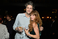 """NEW YORK - MARCH 19: (L-R) Garrett Basch, Executive Producer and Miranda Manasiazis attend the party at the Bowery Hotel Terrace following the premiere for FX Networks """"What We Do In The Shadows"""" on March 19, 2019 in New York City. (Photo by Anthony Behar/FX/PictureGroup)"""