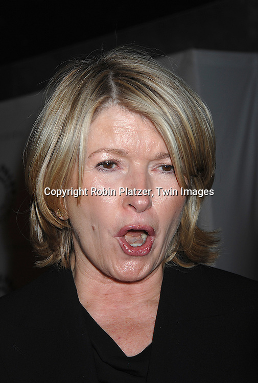 """Martha Stewart.at the Paley Center for Media celebration for Year 3 of """"She Made It: Women Creating Television and Radio"""" which is an on going initiative that celebrates the achievements of women in television and radio by honoring writers, producers, directors. journalists, sportscasters and executives that have made major contributions ito the industry over the decades. The event was on December 6, 2007 at The Paley Center( formerly Museum of Television and Radio. .Robin Platzer, Twin Images"""