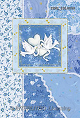 Isabella, WEDDING, paintings, doves, blue fond(ITKE101825,#W#)