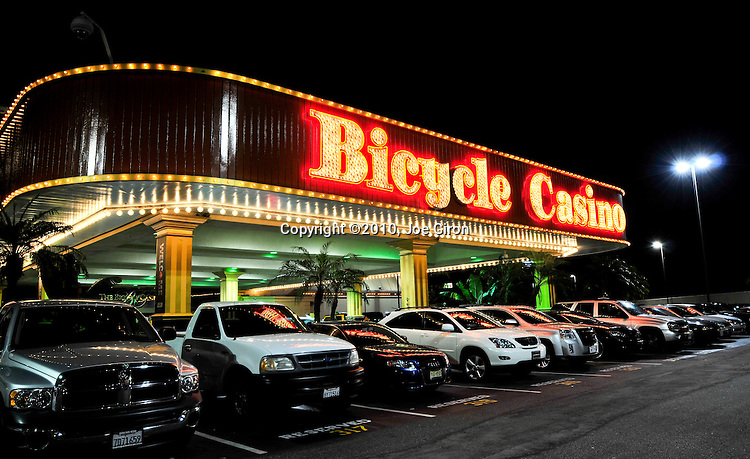 Exterior shot of the Bicycle Casino, host property for the NAPT Los Angeles event.