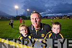 Ronan, Denis and Daniel O'Connor Austin Stacks fans at the County Final at the teams training session on Tuesday night.