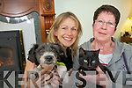 Sharon Shannon pictured with Ruth Collings, Killarney, who has adopted a cat and a dog after they were rescued after being bunred with boiling water recently.
