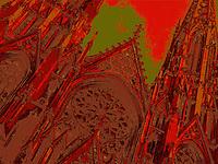 St Patrick's in red