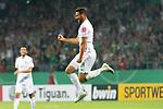 10.08.2019, wohninvest Weserstadion, Bremen, GER, DFB-Pokal, 1. Runde, SV Atlas Delmenhorst vs SV Werder Bremen<br /> <br /> DFB REGULATIONS PROHIBIT ANY USE OF PHOTOGRAPHS AS IMAGE SEQUENCES AND/OR QUASI-VIDEO.<br /> <br /> im Bild / picture shows<br /> <br /> Jubel Claudio Pizarro (Werder Bremen #14) nach dem 1:6 <br /> <br /> Foto © nordphoto / Kokenge