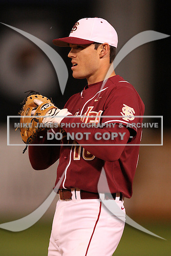 March 2, 2010:  First Baseman Jayce Boyd of the Florida State Seminoles during a game at Legends Field in Tampa, FL.  Photo By Mike Janes/Four Seam Images