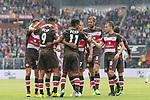 22.07.2017, Millerntor-Stadion, Hamburg, GER, FSP, FC St. Pauli vs SV Werder Bremen<br /> <br /> im Bild<br /> Aziz Bouhaddouz (St. Pauli #9) bejubelt seinen Treffer zum 1:0 mit Teamkollegen, Sami Allagui (St. Pauli #11), Luca Zander (St. Pauli #19), Mats Moller Daehli / MATS M&Oslash;LLER D&AElig;HLI (St. Pauli #14), Bernd Nehrig (St. Pauli #7), Lasse Sobiech (St. Pauli #3), Christopher Buchtmann (St. Pauli #10), <br /> <br /> Foto &copy; nordphoto / Ewert