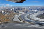 Kluane Ice Fields in Yukon, Canada