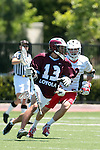 Orange, CA 05/01/10 - Colin Tempelis (LMU # 13) and Matt Walrath (Chapman # 50)in action during the LMU-Chapman MCLA SLC semi-final game in Wilson Field at Chapman University.  Chapman advanced to the final by defeating LMU 19-10.