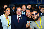 Egyptian President Abdel Fattah al- Sisi attends the fourth national youth conference at Alexandria Library, in Alexandria , Egypt, on July 25, 2017. Photo by Egyptian President Office