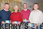 TICKETS; handing in their tickets to attend the Kerry Hospice Palliative Care Annaul Dance in the Earl of Desmond Hotel, Tralee on Friday night, L-r: Dan Galvin, Denis O'Dowd, Gerard O'Connor and Conor Cusack..........