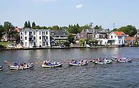 Nederland   Zaandam - 2018.    Boten van de Waterscouting op de Zaan.      Foto Berlinda van Dam / Hollandse Hoogte